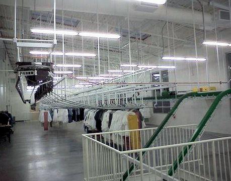 Slick rail garment sort system