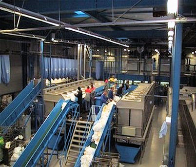 Wilgengroep laundry processing sort system